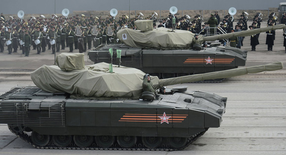 El nuevo tanque Armata. Foto: Ramil Sitdikov / Sputnik.