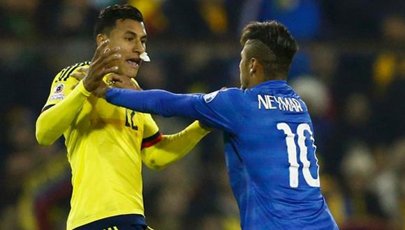 La agresión de Neymar a Jeison Murillo supuso la expulsión del jugador brasileño y la posterior sanción que lo separa definitivamente de la Copa América. Foto tomada de libero.pe