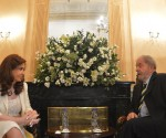 Cristina y Lula en Roma. Foto tomada de la cuenta de facebook de la Presidenta argentina.