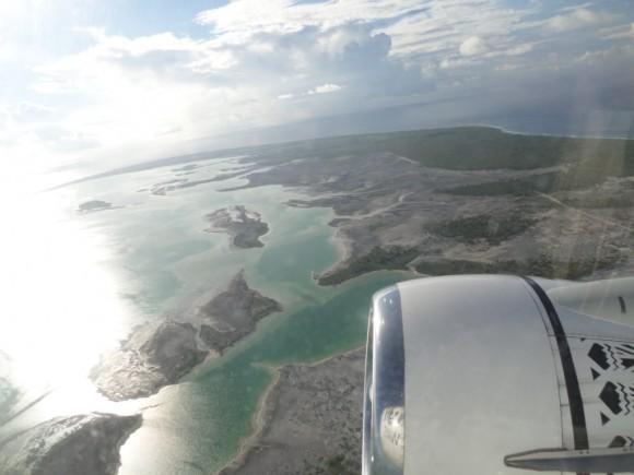 Foto aérea tomada por el Dr. Miguel Peña de la Isla de Christmas.