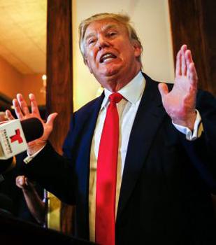 Donal Trump el lunes en Chicago. Foto: EFE.
