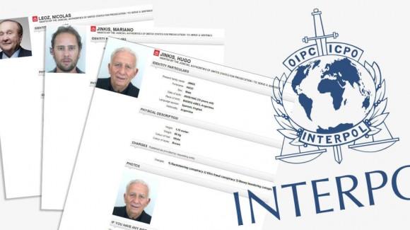 Algunos de los personajes buscados por la Interpol. Foto tomada de El Confidencial