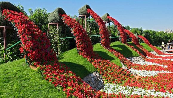 El jardín más grande del mundo: más de 45 millones de flores ...