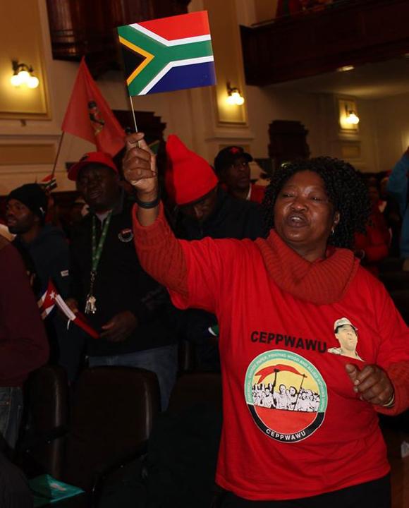 Los Cinco en el City Hall de Johannesburgo