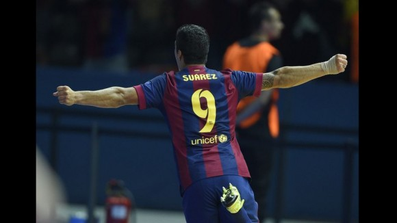 Luis Suárez  en la Final de la Champions, 6 de junio de 2015. Foto: AFP