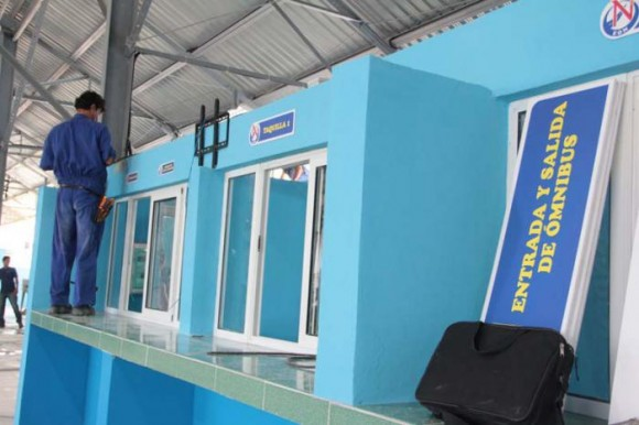 En tiempo récord se acometió la preparación de la nueva Terminal de Villanueva.  Foto: Yaimí Ravelo / Granma