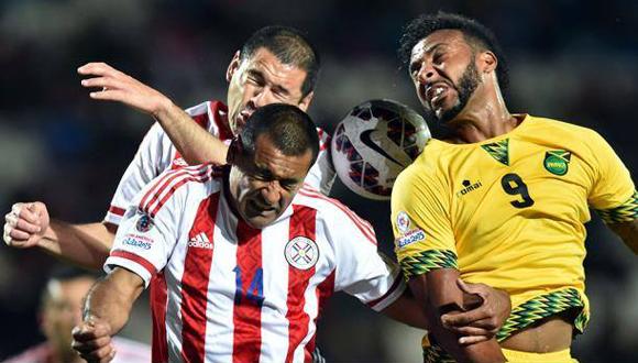 Escena del encuentro entre Paraguay y Jamaica. Foto: AFP