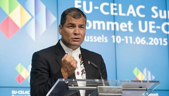 Rafael Correa, quien presidente temporalmente la Celac. Foto: EFE