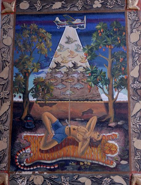 Pinturas alegóricas a las parrandas remedianas. Foto: Arelys María Echevarría/ AIN.