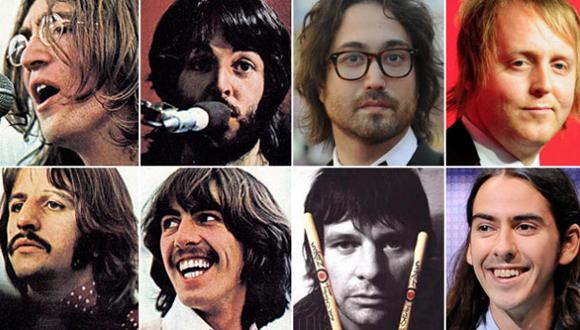 The Beatles y sus hijos. Foto tomada de contextotucuman.com