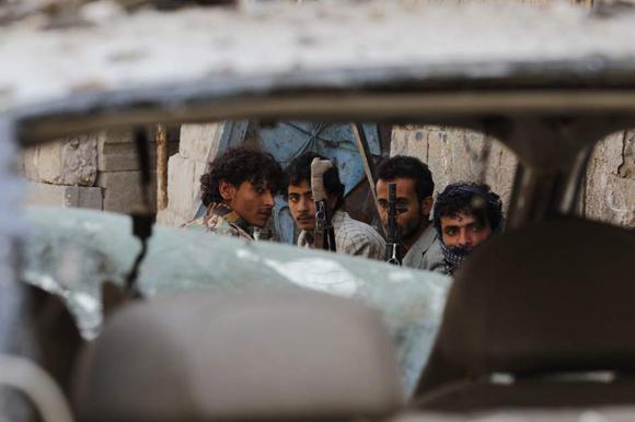 Prisioneros en Yemen. Foto: EFE.