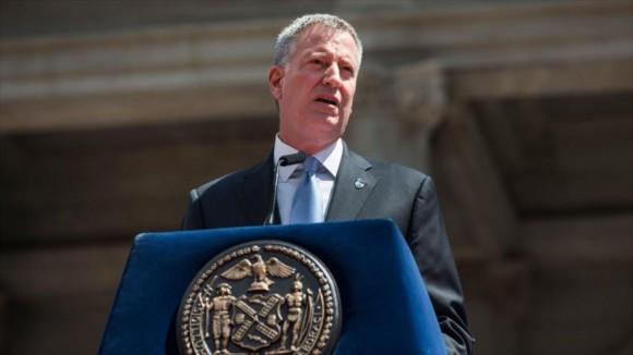 Wilhelm de Blasio, alcalde de Nueva York (noreste de Estados Unidos).