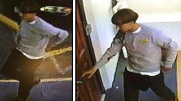 mágenes tomadas por una cámara de seguridad de la Iglesia Episcopal Metodista Africana Emanuel de Charleston, en Carolina del Sur (este de EE.UU.) del presunto autor de la matanza del miércoles, 17 de junio de 2015.