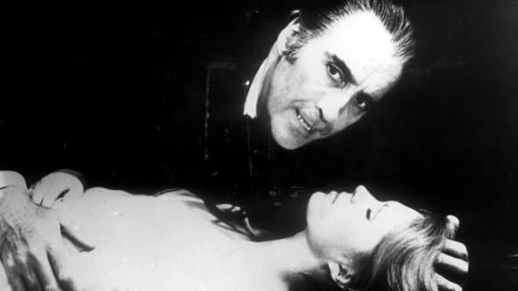 Christopher Lee en el papel de Drácula.