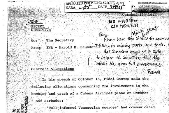 documentos del dpto de estado sobre posada y barbados