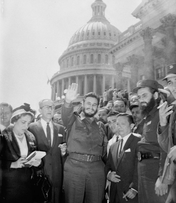 Fidel en Washington, en abril de 1959. Foto: AP