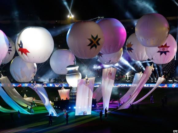 Inauguración Copa América Chile 2015. Foto: EFE