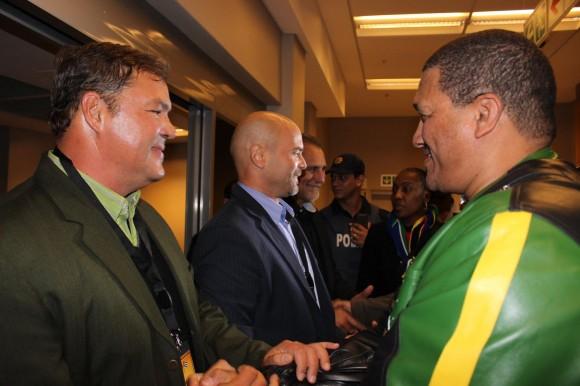 Los cinco luchadores antiterroristas cubanos llegaron a Cape Town, capital legislativa del país y de la provincia de Western Cape, donde serán recibidos en la sede del Parlamento. Foto: Deisy Francis Mexidor/ Prensa Latina.