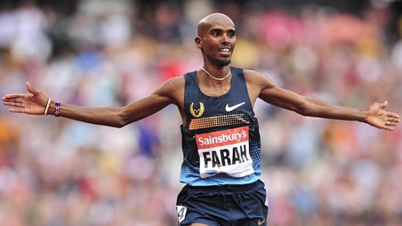 Mo Farah, en una carrera de 3000 metros de la Diamond League (2013). Foto: AFP.