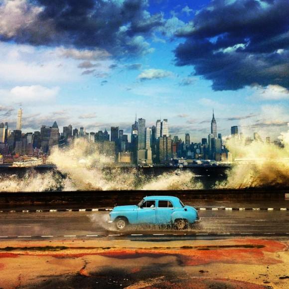 La belleza de las ciudades de Nueva York y La Habana en una sola imagen. Fotógrafos @garyhershorn (Nueva York), @eliaponte (La Habana) y promocionado por @echosight