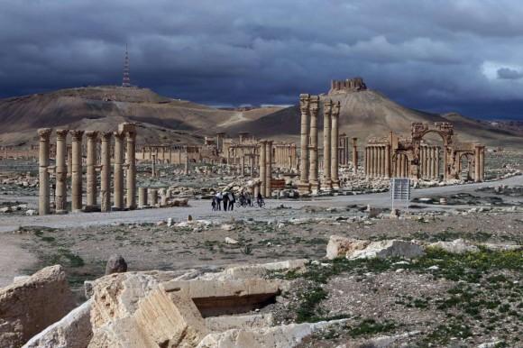 Palmira (Tadmur, en árabe), la perla del desierto, fue en los siglos I y II d. C. uno de los centros culturales más importantes del mundo antiguo. Foto: Joseph Eid/ AFP.