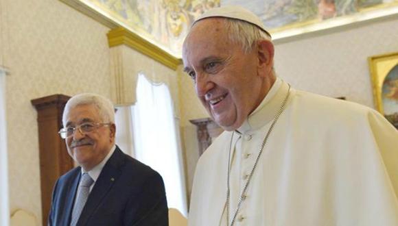 Mahmud Abbas y el Papa Francisco. Foto tomada de mexico.cnn.com