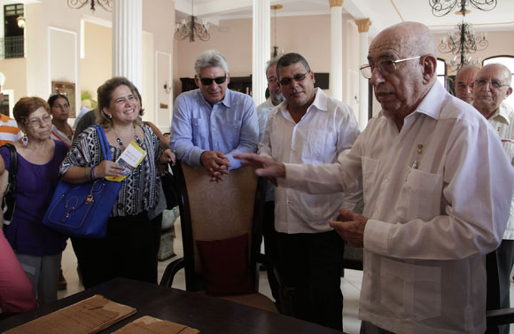 Recorrido por Remedios de Díaz-Canel y Machado Ventura. Foto: Ismael Francisco / Cubadebate.