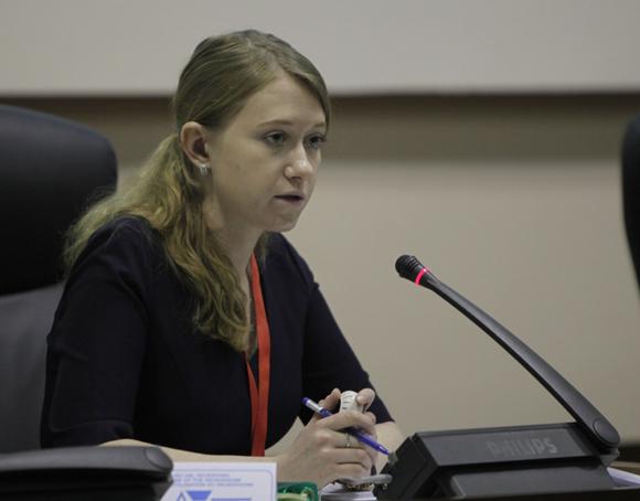 Yulia Olegonova, agregada del Departamento para los asuntos de nuevos desafíos y amenazas del Ministerio de Asuntos Exteriores de Rusia. Foto: Ismael Francisco/ Cubadebate