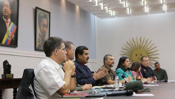 El presidente de Venezuela, Nicolás Maduro, en el Palacio de Miraflores en Caracas, en imagen del 18 de junio pasado. Foto: Xinhua