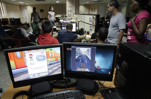 Videojuegos producidos por los Estudios de Animación del ICAIC, en asociación con la UCI. Foto: Ismael Francisco/Cubadebate