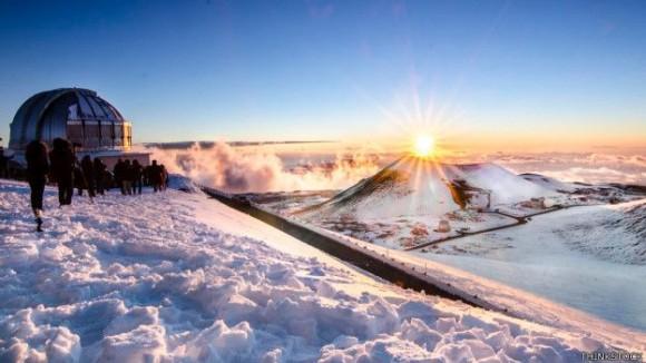 El viaje de ida y vuelta al tope del volcán Mauna Kea toma diez horas