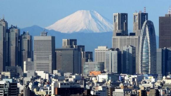 El monte Fuji, quizás, el más famoso de los estratovolcanes simétricos.