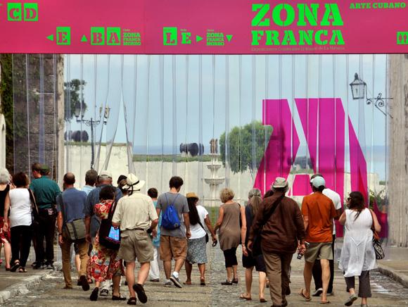 Zona Franca, muestra colateral de la XII Bienal de La Habana, en el complejo Morro-Cabaña del 22 de mayo al 22 de junio. Foto: Ladyrene Pérez/ Cubadebate