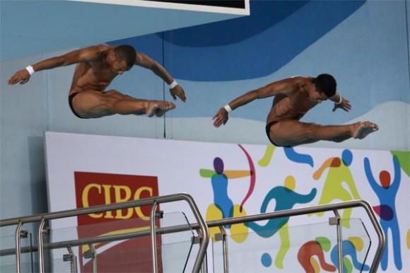 Jeinkler y Guerra se levaron el oro panamericano en la plataforma sincronizada. Foto: Mónica Ramírez / Jit