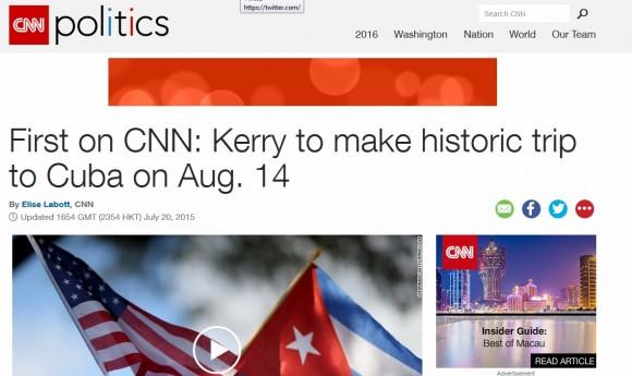 Repercución en prensa internacional sobre restablecimiento de relaciones Cuba-EE.UU.