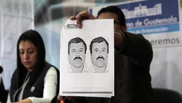 Retrato del narcotraficante Joaquín 'El Chapo' Guzmán. Foto: ESTEBAN BIBA (EFE)