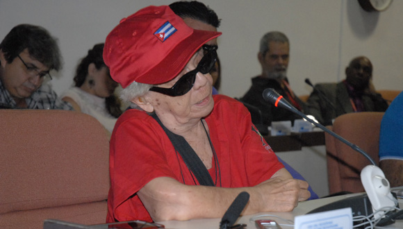 Graciela Pogolotti resaltó la importancia de no ver la recreación equiparada a la cultura. Foto: Yoandry Avila/ Cubaperiodistas