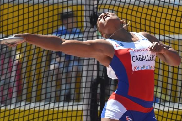 Denia Caballero ganó la medalla de oro en el lanzamiento de disco en los Juegos Panamericanos de Toronto 2015. Foto: Ricardo López Hevia