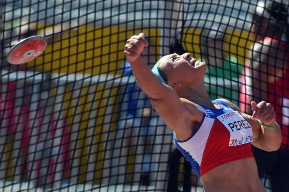 Yaimé Pérez en los Juegos Panamericanos de Toronto 2015. Foto: Ricardo López Hevia.