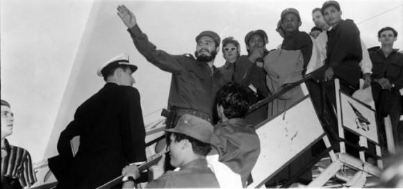 El 15 de abril de 1959 parte Fidel rumbo a Estados Unidos al frente de la delegacion cubana. Foto: Revolución
