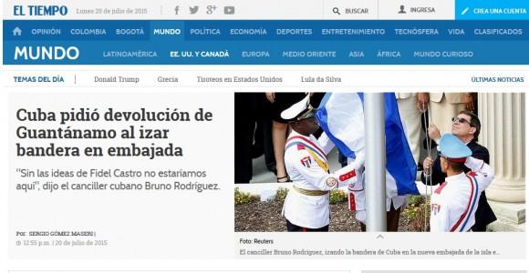 El Tiempo, Colombia, 20 de julio de 2015