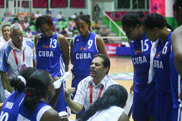 Equipo Cuba de baloncesto. Foto: Archivo.