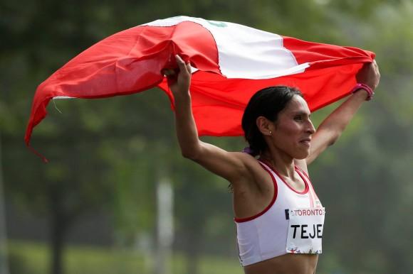 La peruana Gladys Tejeda gana el maratón femenino. Foto: sitio oficial en Facebbok de los Juegos Panamericanos