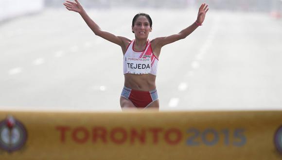 La atleta cubana Gladys Tejeda. Foto tomada del sitio oficial en Facebook de los Juegos Panamericanos