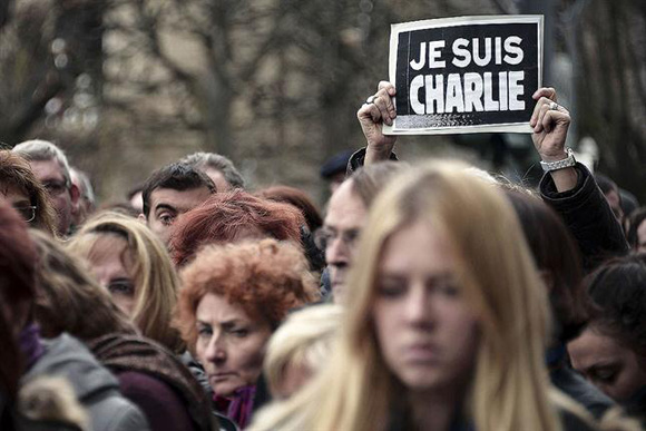 Manifestación en contra de ataque terrorista en París. Foto: Archivo
