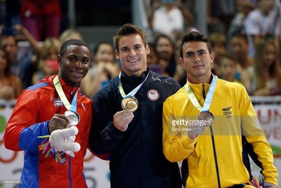 Premiación del All Around de los Juegos Panamericanos de Toronto 2015. Foto: Getty Images