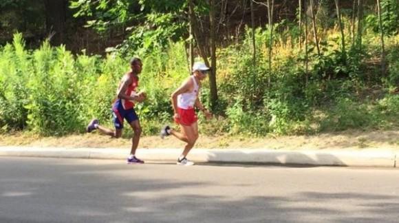 Richer Pérez durante la maratón panamericana en Toronto 2015, 25 de julio de 2015. Foto: Colaborador de Jit