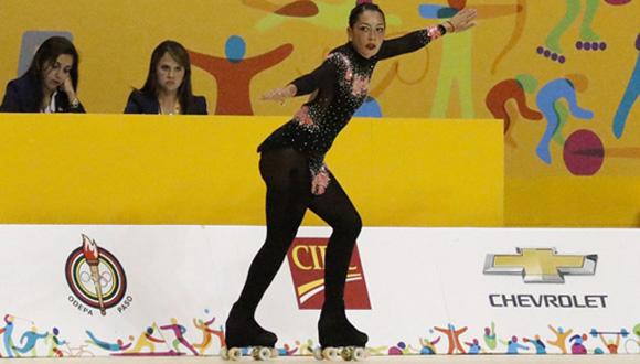 Marisol Villarroel, bronce en el patinaje artístico.