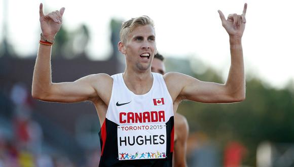 Matt Hughes, campeón de los 3000 metros con obstáculos.