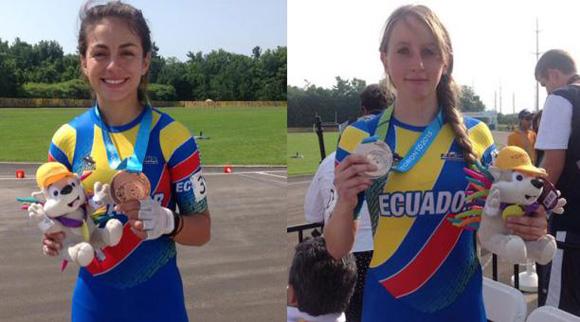 Las patinadoras ecuatorianas Emma Clare e Ingrid Factos lograron hoy medalla de plata y bronce en los Juegos Panamericanos de Toronto 2015.
